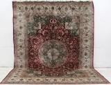 Carpet, hand-knotted silk carpet, China, 277 x 361