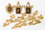 Collection of frames, wood, probably nineteenth century (8)