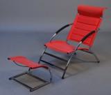 Ubekendt møbelproducent. Lænestol med tilhørende skammel(2)