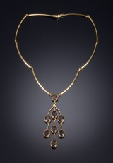 Just Andersen gold jewellery wtih smoky quartz