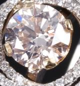 Brillantring af 14 kt. guld og hvidguld med brillant på 1.03 ct