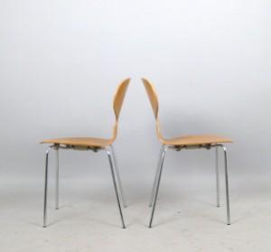 arne jacobsen st hle modell ameise 3100 f r fritz hansen. Black Bedroom Furniture Sets. Home Design Ideas