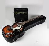 Elbas, 'Höfner Ignition Beatles Bass VSB' samt basförstärkare 'Harley Benton, HBW-20'