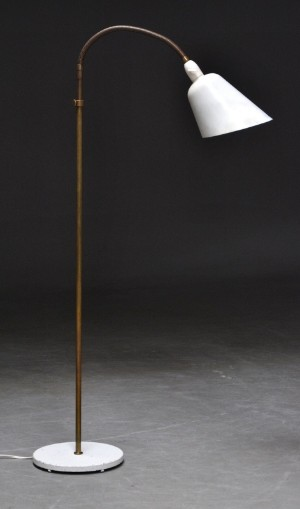 Arne jacobsen aj reading lamp floor lamp with column in brass aj reading lamp floor lamp with column in brass with flexible neck shade and base in varnished metal produced from 1929 lauritz mozeypictures Gallery