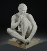 Ubekendt kunstner, skulptur af gips, kvindelig model