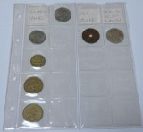 En samling mønter, bl.a Dansk Vestindien sølvmønt 1905. (7)