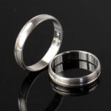 Forlovelses/vielsesringe i Sterling sølv