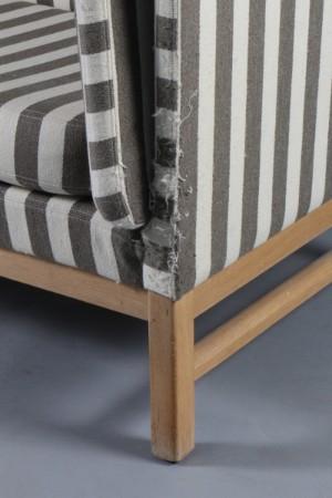 erik j rgensen tre pers sofa model ej 315 stribet uldstof. Black Bedroom Furniture Sets. Home Design Ideas