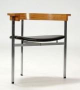 Poul Kjærholm. Work chair/armchair, model PK11, ash and steel