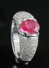 Diamond and ruby ring in 18kt approx. 1.20ct, By Kapriss.