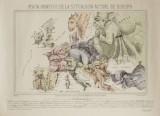 Satirisk karta över Europa ca 1870