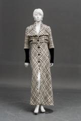 Karl Lagerfeld, lang uldfrakke str. small / ca.36