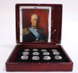 Svenska silvermynt samt medaljer, 23 st, total vikt ca 700 gr (23)