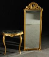 Spegel med konsolbord, rokokostil, 1900-tal (2)