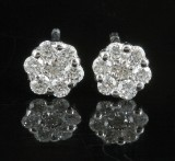 Diamond earrings approx. 0.32ct