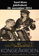 Sussi & Leo inkl. Julebuffet for 4. Pers. på Kongeåkroen 28. november 2014
