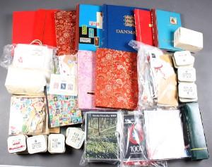 da auktion samling danske julemaerker samt ark i