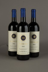 3 bottles Sassicaia 2002 (3)