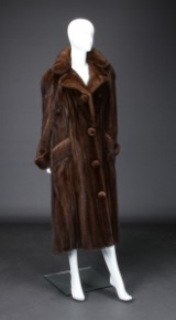 Brown mink coat, size 40/42