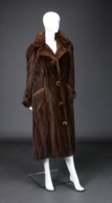 Brown mink coat, size 40/42