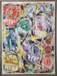 E.W. Nielsen. Abstrakt komposition, akryl på lærred