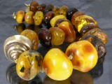 Amber necklace, approx. 292 g.