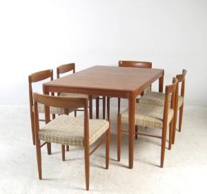 H W Klein Esstisch Modell Nr 62 Stuhle In Teak Fur Bramin 7
