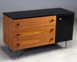 Grossman Dresser 3, 62 series. Sideboard, walnut and black