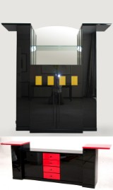 Bar cabinet and sideboard from the Creation 1000 series by Rolf Benz (2)