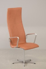 Arne Jacobsen. Oxford Lounge Chair, model 3272 , nypolstret