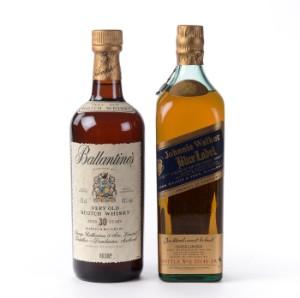 Whisky Ballantines 30 års og Johnnie Walker Blue Label (2) - Dk, Herlev, Dynamovej - Whisky Ballantines 30 års og Johnnie Walker Blue Label (2) - Dk, Herlev, Dynamovej