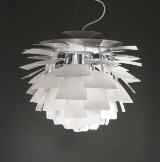 Poul Henningsen. Pendant lamp, PH Artihcoke, Ø 60 cm, with Design-ID numbered certificate