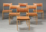Dansk møbelproducent. Spisestole, egetræ (6)
