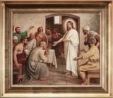 Poul Steffensen. Den genopstandne Jesus, olie på lærred