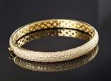Brillantarmbånd af guld, ca. 3.20 ct.