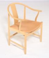 Hans J. Wegner. Kinastol med stel af ask, model PP66