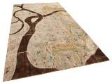 Handknuten persisk matta, patchwork 309 x 207 cm