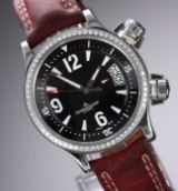 Jaeger-LeCoultre 'Master Compressor', large ladies' watch, steel, diamonds, 2010's