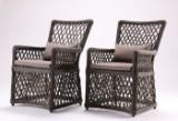 To stole i brunt flettet polyrattan (2)