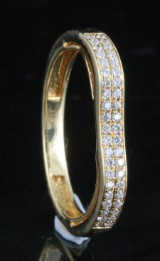 Ring in 18k set with  brilliant cut diamonds 0.30 ct