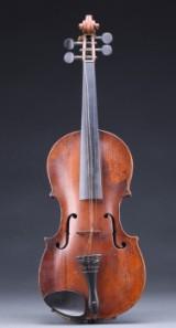 Tysk violin mærket Laurentius Guadagnini. 1700-tallets slutning, antageligt Klingenthal