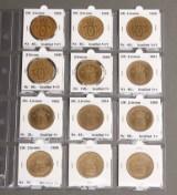 Samling danske mønter, inkl. 25. øre sølv 1917 og møntsæt (50)