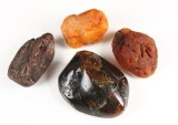 Collection of amber pieces, approx. 616 grams (4)