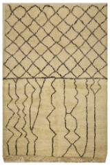 Hand-knotted Moroccan rug, 245 x 158 cm