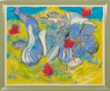 Bernd Schwarzer, 'Liebespaar', chalk pastel, signed on image
