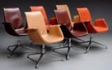 Preben Fabricius & Jørgen Kastholm. A set of six armchairs, 'Tulip Chair', model FK 6725 (6)