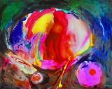 Gönül Sen-Menzel, akrylmaleri, 'Abstrakt III'