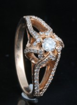 14kt. diamond ring approx. 0.47ct