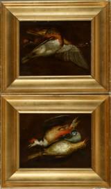 Johann Adalbert Angermayer, tilskrevet. To jagttrofæ malerier, 1700-tallet (2)