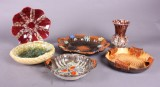 Samling keramik. Fade og vase. (6)